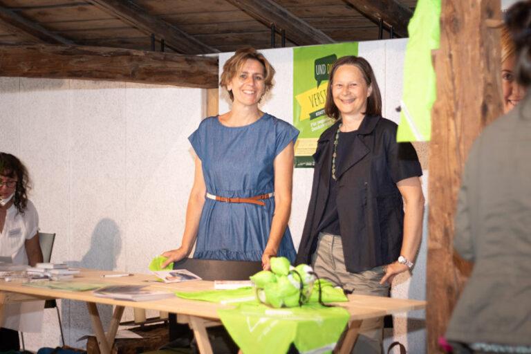 Frau in der Wirtschaft vertreten Doris Dim und Andrea Eckerstorfer